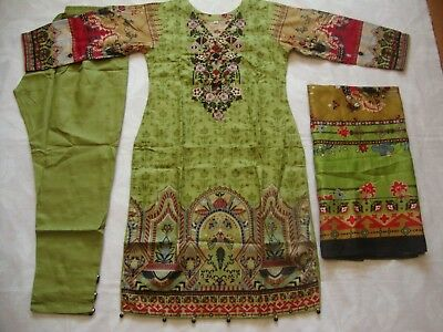 Maria.b  Khaddar  Embroidered stitched pakistani indian  3pc suit  £23 CLEARANCE