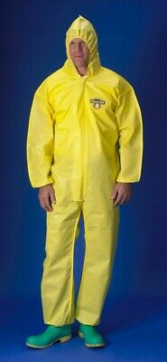 25 x Disposable Hooded Type 3/4/5/6 Chemical Coveralls/Suits (Large)