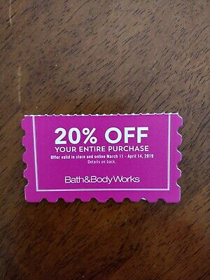 Bath & Body Works 20% Off Purchase Coupon