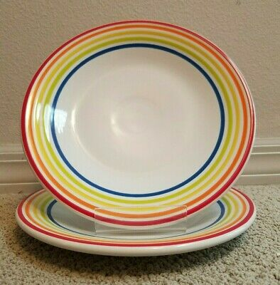 Fiestaware  Signature LINES  Luncheon  Plate  9 inch  NEW set of 2
