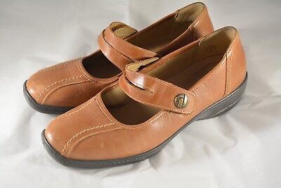 907239fe Womens HOTTER Comfort Concept Brown Leather Mary Jane Shoes Size 9 US 7 UK