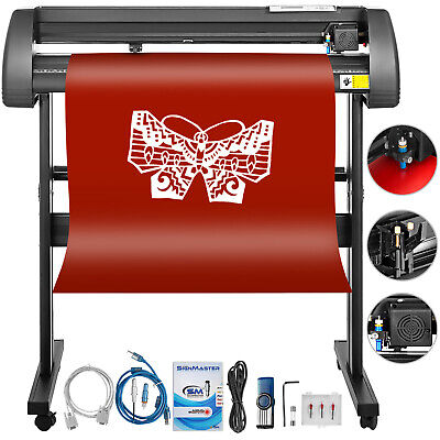 "Vinyl Cutter Plotter Cutting 34"" Sign Making 3 Blades Craft Cut W/Table"