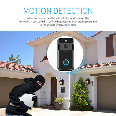 Home Wireless Smart Security DoorBell HD 720P Visual Intercom Recording Video