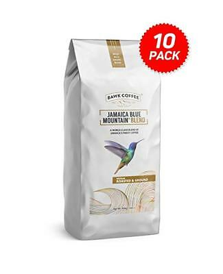 Jamaica Blue Mountain Coffee Blend – Roasted & Ground (16oz Bags, (Pack of 10)
