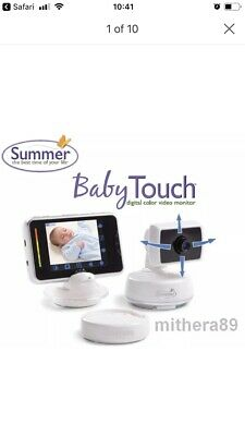 SUMMER INFANT Baby Touch DIGITAL COLOUR VIDEO 9cm Monitor Screen ZOOM PAN TILT!
