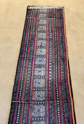 THAI SILK REAL 100% HandWoven Antique Art Fabric Saree Batik
