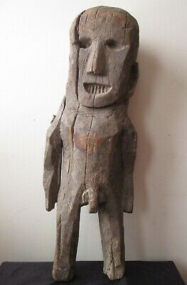 Antique 19th Century NEPAL Nepalese Asian Ancestor SHAMANIC carved WOOD Figure