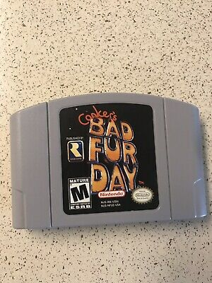 Conkers Bad Fur Day N64 Nintendo 64! AUTHENTIC & TESTED! Fast Shipping