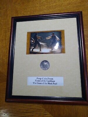 Certified Pirates Of The Caribbean Black Pearl Original Movie Prop Coin Framed