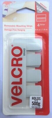 VELCRO® Hangables - Removable Wall Fasteners - White - Set 4