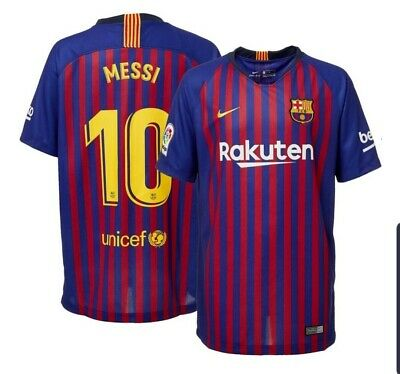 bad5124038c Official Nike Barcelona FC Home Jersey 2018 2019 Messi  10 Men s S Jersey