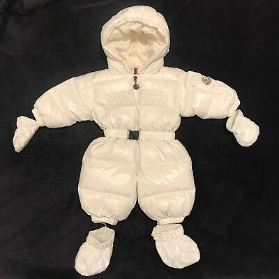 Moncler snow-suit. Age 3-6 months (baby). Worn once. RRP £415.00.