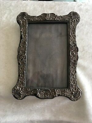 """Antique English Sterling Silver Repousse Frame - All Original 7"""" tall. 1904-1905"""