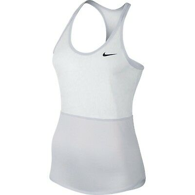 Nike Pro Women's Dri-Fit Cool Burnout Tennis Tank Top Shirt White Birch 646159