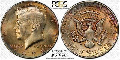 1979 Kennedy Half Dollar Bu Uncirculated Pcgs Ms64 Color Toned In High Grade