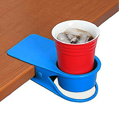 Home and Office Huge Desk Cup Holder Clip for Table Side Water Drink Soda New