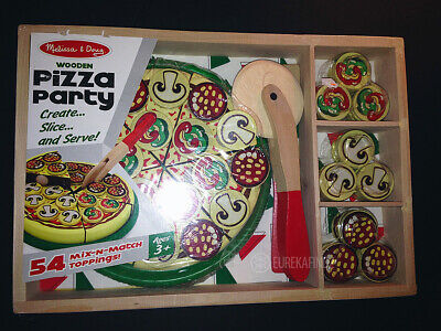 Melissa Doug Wooden Pizza Party 54 Mix N Match Toppings
