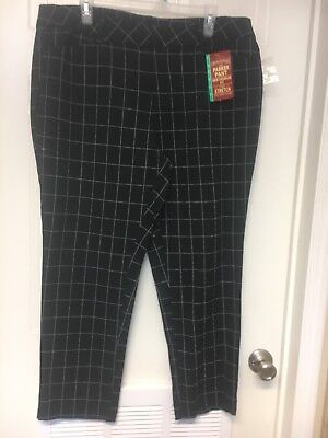 8416a6e2d05 Womens Size 18 Slim Ankle Length The Parker Pant Black With White Stripes