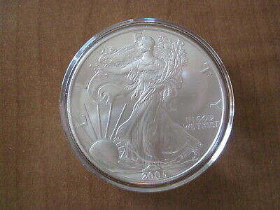 2005 1 oz Silver American Eagle $1 (Brilliant Uncirculated), No Reserve