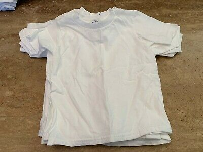 """Lot of 6 Children""""s T Shirt Size 3T Delta Pro Weight Tees Unisex Toddler Blank"""