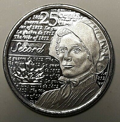 2013 CANADA 25 Cent LAURA SECORD Regular  BU Coin From Mint Roll UNC