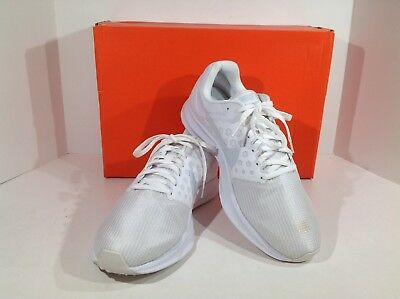 5137ce370fe4 NIKE Downshifter 7 Womens Size 9 White Running Training Athletic Shoes  X15-470