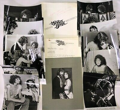 """""""a Star Is Born"""" 1976! Original Press Kit! Extremely Rare! Stills And Documents!"""