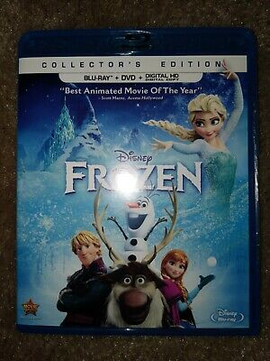 Disney Frozen Collectors Edition Bluray & DVD + Case And Slipcover Like New