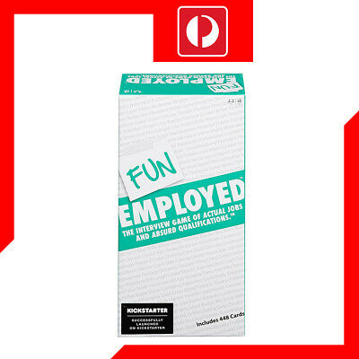 Fun Employed Card Game The Interview Game of Actual Jobs & Absurd Qualifications