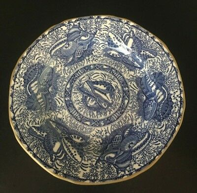 Mottahedeh Torquay Blue with Gold Trim Small Plate