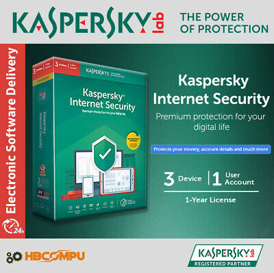 Kaspersky Internet Security 2019 | 3 Devices | 1 Year License | Activation Code