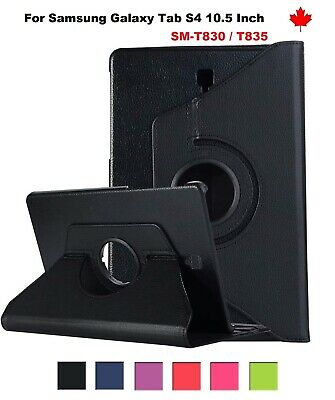 """For Samsung Galaxy Tab S4 (10.5"""") SM-T830 T835 - 360° Leather Stand Case Cover"""