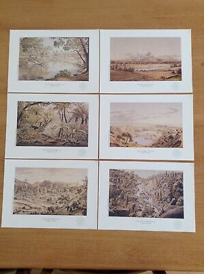 6 x PRINTS - EUGINE VON GUERARD ETCHINGS  - THE WEEKLY TIMES LIMITED EDITION.