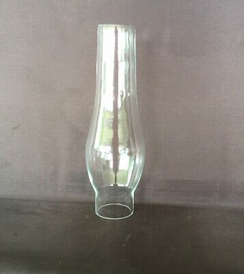 Glass Oil Lamp Chimney Miller #0 - 38mm Base Opening, 180mm tall.