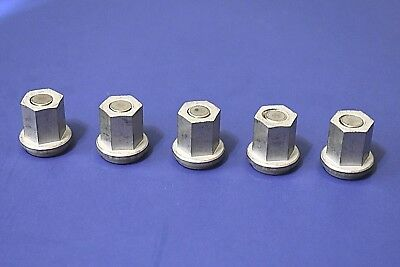 """QTY 5 Group 31 Battery Stainless Steel Closed Nuts For Standard 3/8"""" Stud"""
