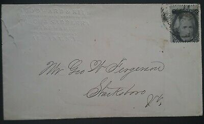 RARE c.1860s United States Woodward & Hill Cover ties 2c Jackson stamp Albany cd