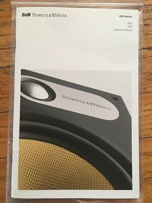 Bowers & Wilkins 600 Series 685 686 Speakers Owner's Manual