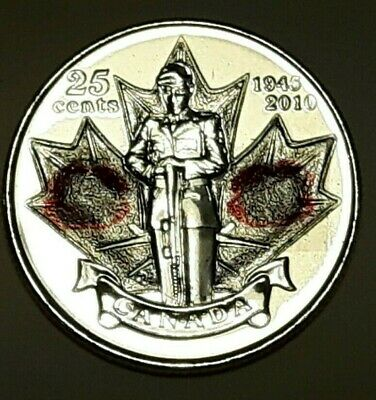 2005 CANADA 25 Cent RED Poppy BU Quarter From Mint Roll UNC