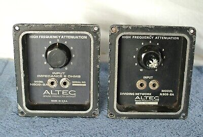 Altec Lansing N809-8A Pro Series Horn Driver Tweeter Crossover Network unit Pair