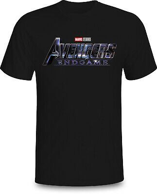 Avengers End Game Logo Symbol New Marvel Movie 2019 Tee T-Shirt Black size S-5XL