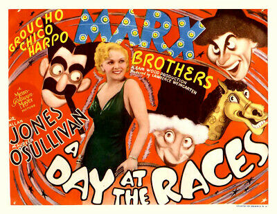 16mm A DAY AT THE RACES-1937. Marx Bros b/w feature film. VS odor