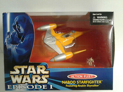 STAR WARS Action Fleet Naboo Starfighter Galoob Micro Machines NIB 1998
