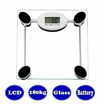 Body Fat Weighing Weight Electronic Bathroom Scales 180kg Measure Body Weight AU