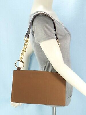 Miche Classic BROWN Base Bag RARE GOLD Chain Accent Straps 8 Rings NO Covers GUC