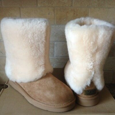 41be6eb9eb3 UGG WOMEN PATTEN Chestnut Maylin Shearling Cuff Us 7 / Eu 38 / Uk ...