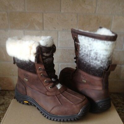 75d40c08d60 UGG ADIRONDACK TALL II Black Ombre Waterproof Leather Snow Boots ...