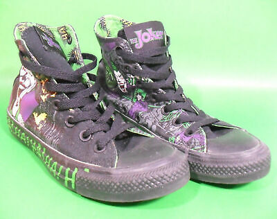 9c07367075fa Joker Converse All Star Hi Top Sz 5 7 Chuck Taylor Sneaker Batman Dc Comics