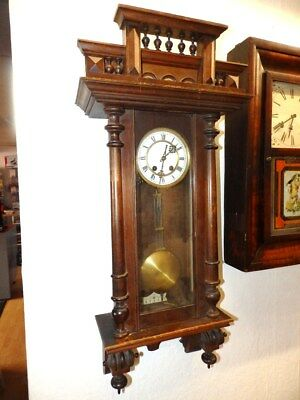 Wall Clock With Half Hour Striking Mechanism In Original Condition