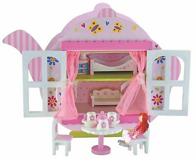 Girls Toys Bubbadoo Teapot Doll House Playset Wooden Fun Play Gift Item Kids Toy