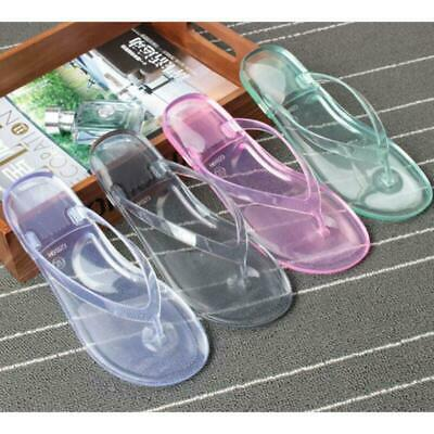432171978b26 Women s Transparent Flat Flip Flops Clear Bow Knot Sandals Summer Jelly  Slippers